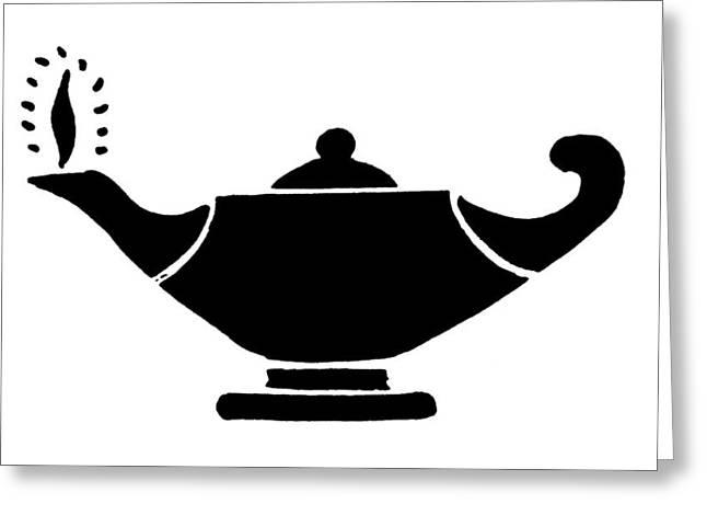 Oil Lamp Symbol Greeting Card by Granger