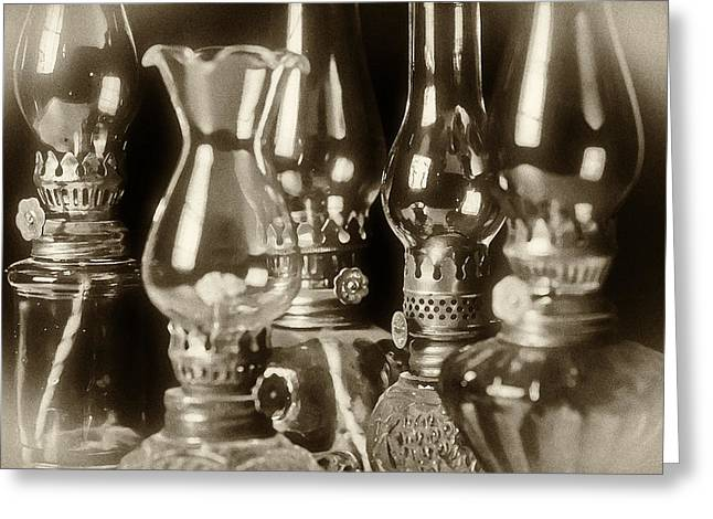 Oil Lamps Greeting Card by Patrick M Lynch