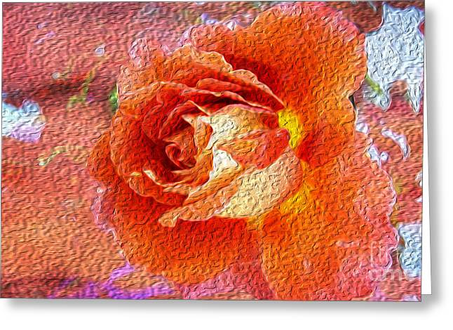 Oil Of Joy Greeting Card by Beverly Guilliams