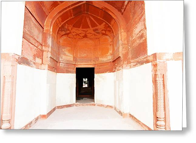 Oil Painting - Doorway In Humayun Tomb Greeting Card