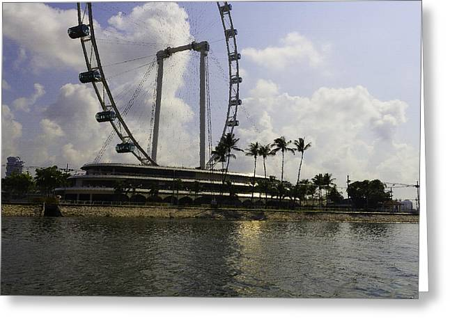 Oil Painting - Partial Structure Of The Singapore Flyer Greeting Card