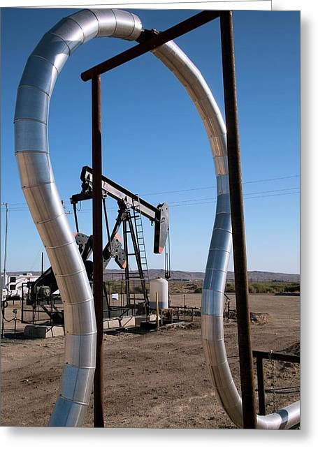 Oil Production Greeting Card by Jim West