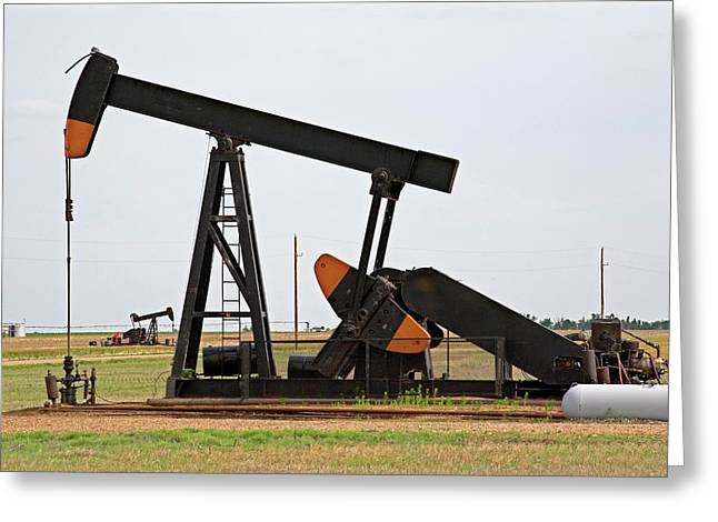 Oil Pump Greeting Card by Jim Edds/science Photo Library