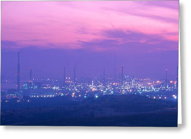 Oil Refinery, Andalucia, Spain Greeting Card by Panoramic Images