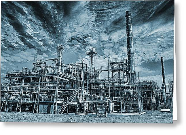 Oil Refinery In High Definition Greeting Card