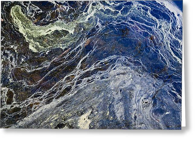 Oil Spill Abstract Greeting Card by Dancasan Photography