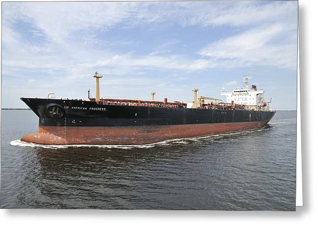 Oil Tanker Greeting Card