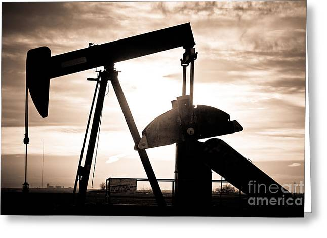 Oil Well Pump Greeting Card