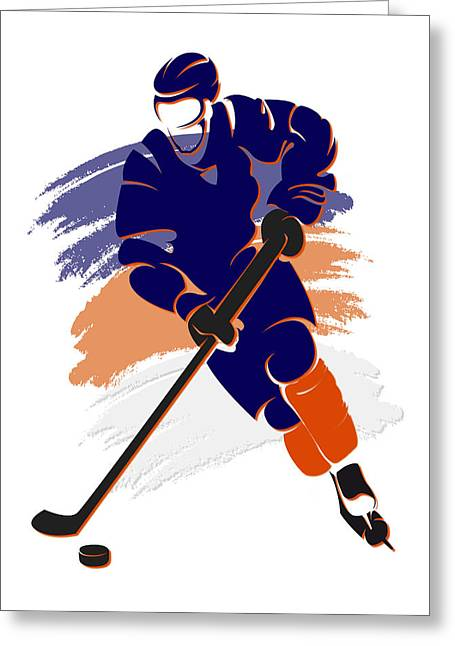 Oilers Shadow Player2 Greeting Card