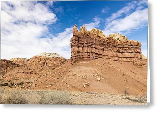 Ojitos De Los Gatos Panorama - New Mexico Greeting Card by Brian Harig
