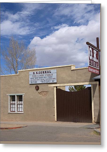 Greeting Card featuring the photograph Ok Corral Tombstone Az Usa by Bob Pardue
