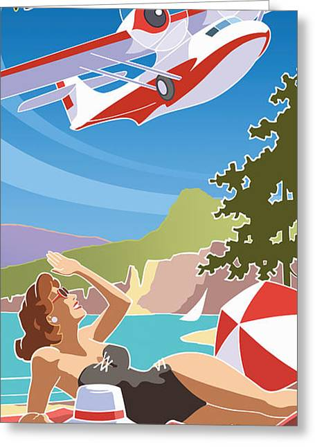 Okanagan Air, Mid Century Fun Greeting Card