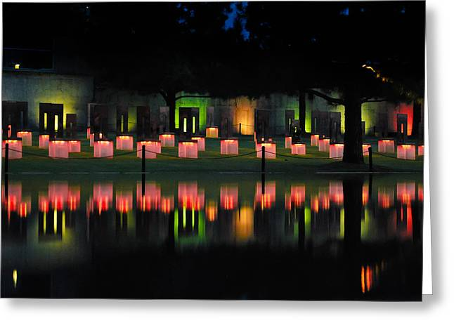 Oklahoma City National Memorial - Field Of Empty Chairs Greeting Card by Gregory Ballos