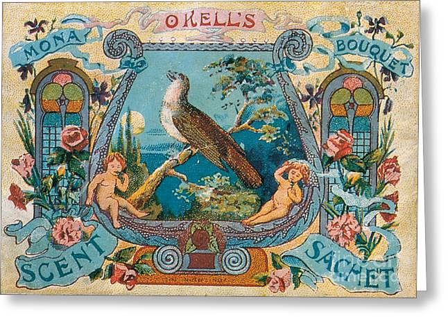 Okells Scent Sachet 1895 Greeting Card