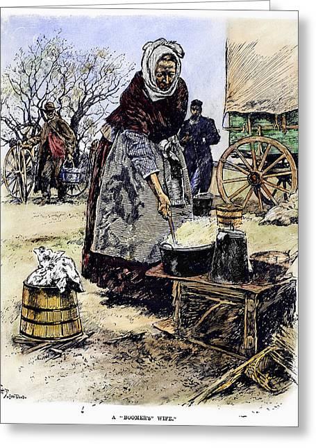Oklahoma Boomer, 1889 Greeting Card by Granger