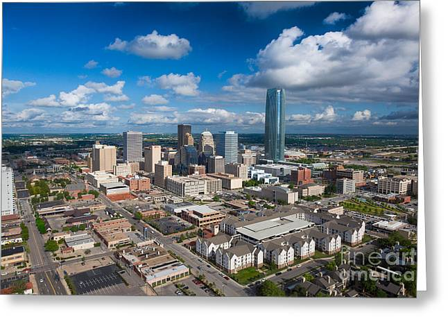 Oklahoma City Greeting Card by Cooper Ross