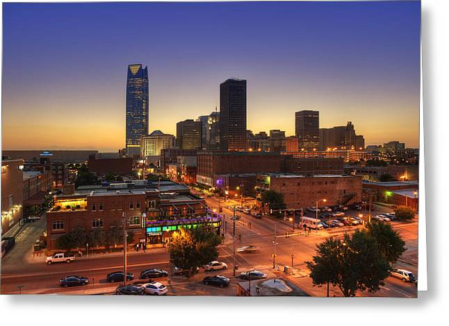 Oklahoma City Nights Greeting Card