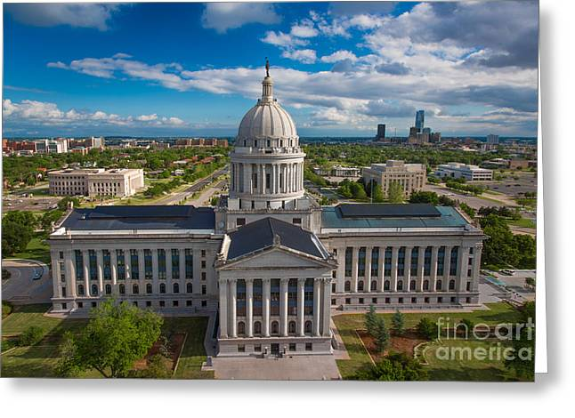 Oklahoma City State Capitol Building B Greeting Card by Cooper Ross