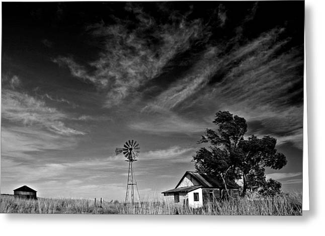 Greeting Card featuring the photograph Oklahoma Farm by Christopher McKenzie