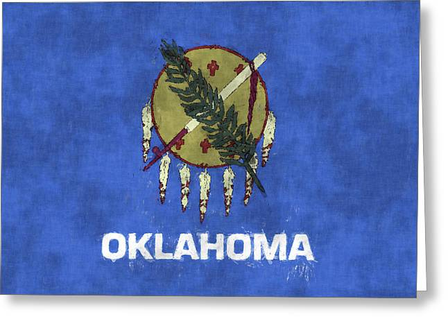 Oklahoma Flag Greeting Card by World Art Prints And Designs