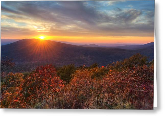 Greeting Card featuring the photograph Oklahoma Mountain Sunset - Talimena Scenic Byway by Gregory Ballos