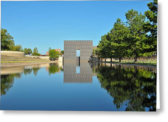 Oklahoma Reflections Greeting Card by Paul Van Baardwijk