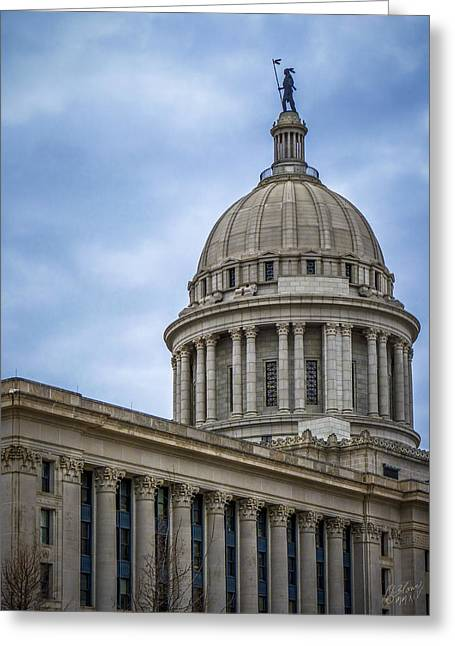 Oklahoma State Capital Dome Greeting Card by F Leblanc