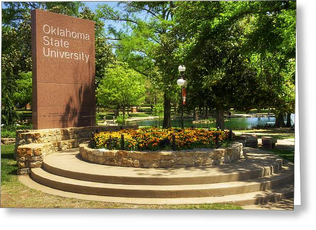 Oklahoma State University Greeting Card by Ricky Barnard