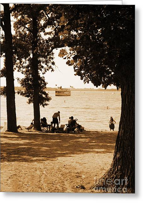 Okoboji Beach Greeting Card by Steve Krull