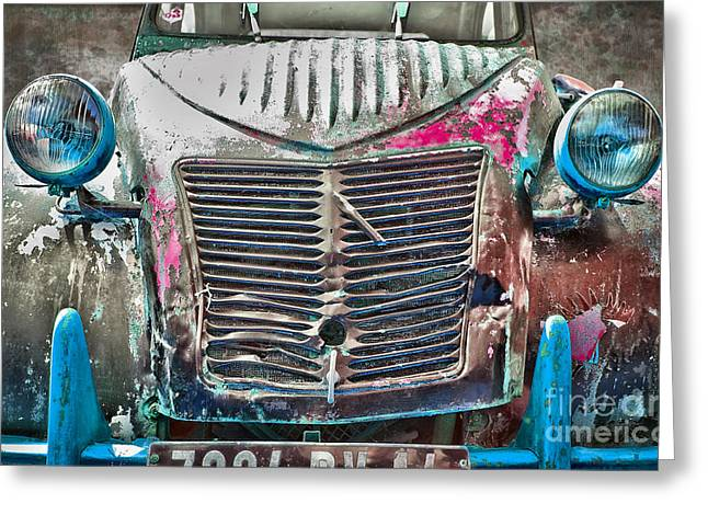 Old 2cv Greeting Card by Delphimages Photo Creations