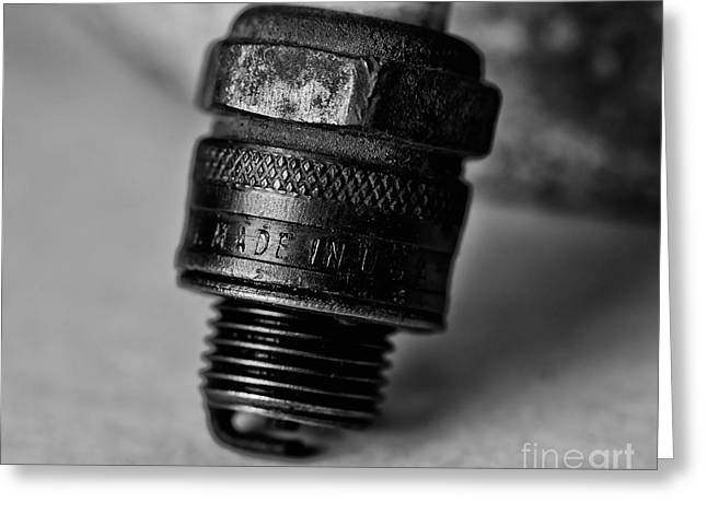 Old 48 Made In U S A Spark Plug Greeting Card