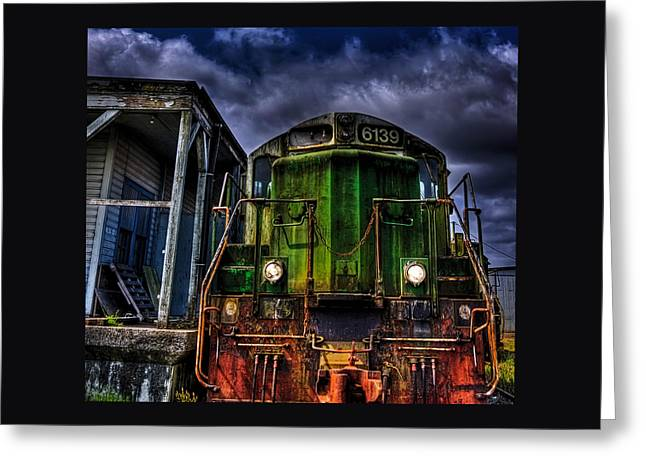 Greeting Card featuring the photograph Old 6139 Locomotive by Thom Zehrfeld
