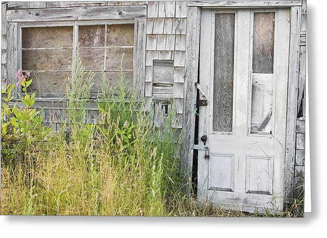 Old Abandoned Building In Maine Greeting Card