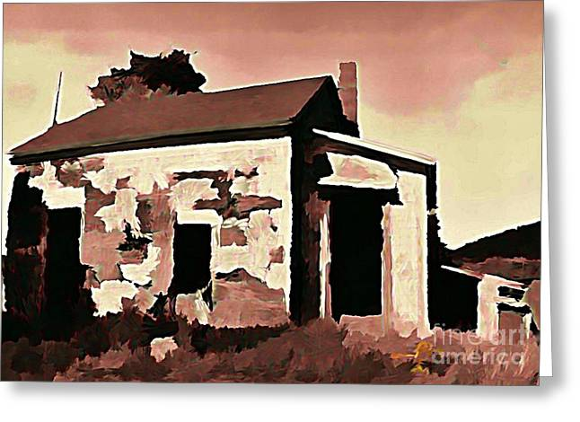 Old Abandoned House In Cape Breton Greeting Card by John Malone