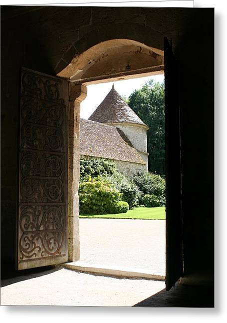 Old Abbey Church Door - Abbey Fontenay Greeting Card by Christiane Schulze Art And Photography