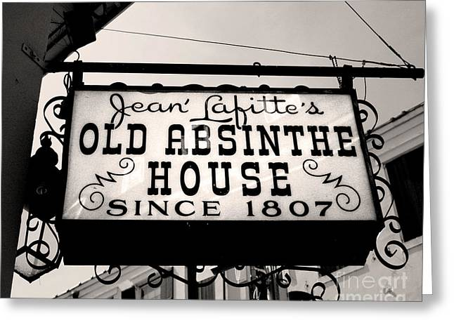 Old Absinthe House Greeting Card by Jillian Audrey Photography