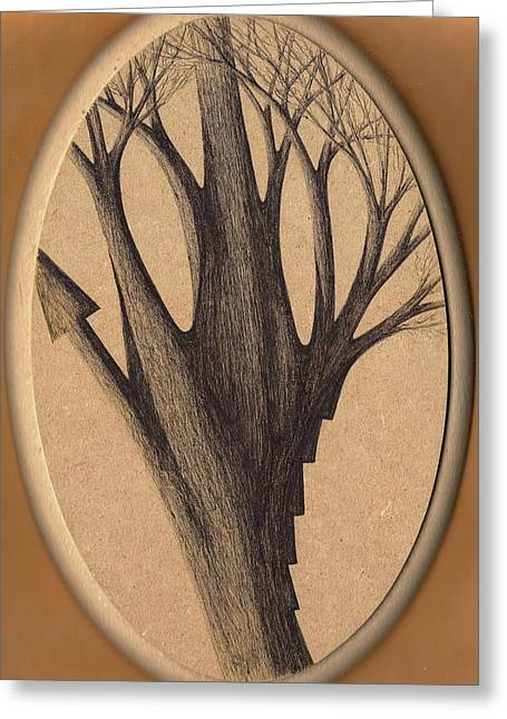 Old Age Lies In Wood Greeting Card