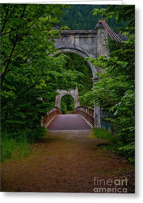 Old Alexandra Bridge Greeting Card
