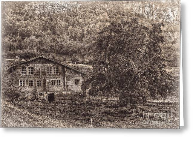 Old And Abandoned - Sepia Greeting Card by Hanny Heim
