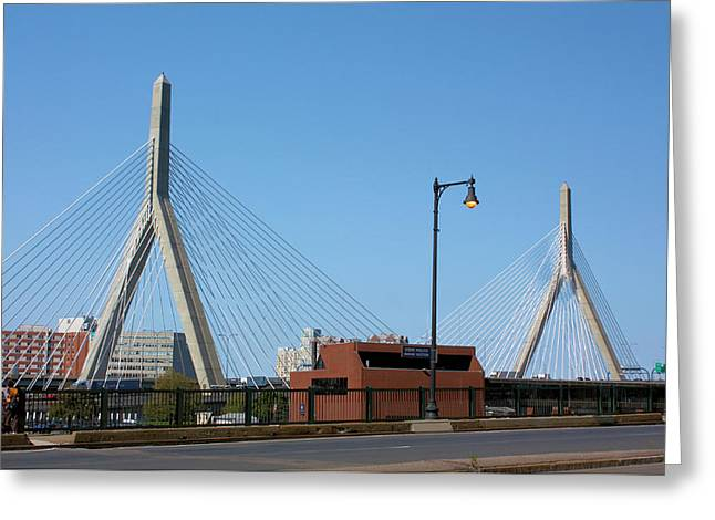 Old And New Boston Greeting Card