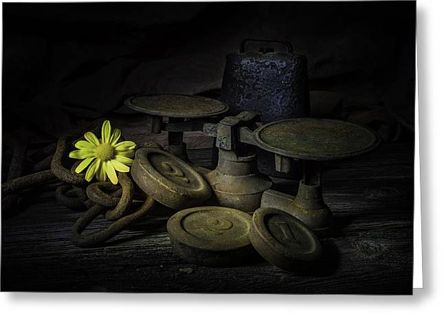 Old And Rusted Still Life Greeting Card by Tom Mc Nemar