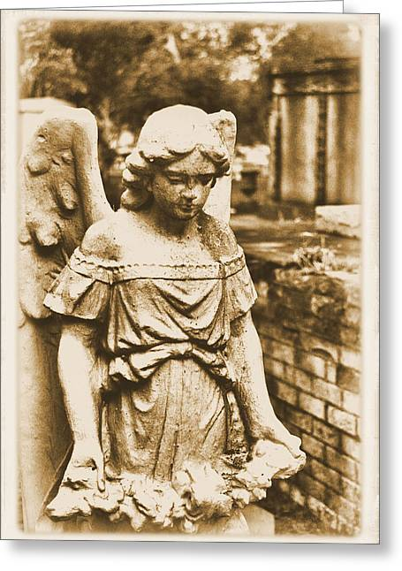 Greeting Card featuring the photograph Blessed Angel   by Nadalyn Larsen