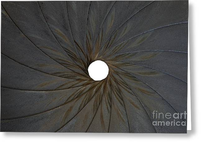Old Aperture Greeting Card by Michal Boubin