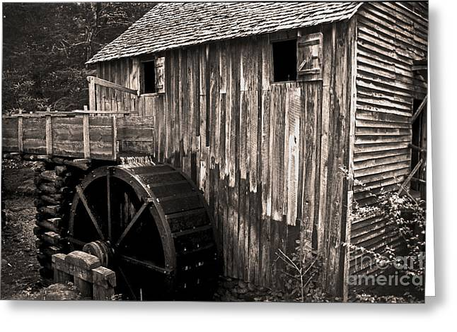 Old Appalachian Mill Greeting Card by Paul W Faust -  Impressions of Light