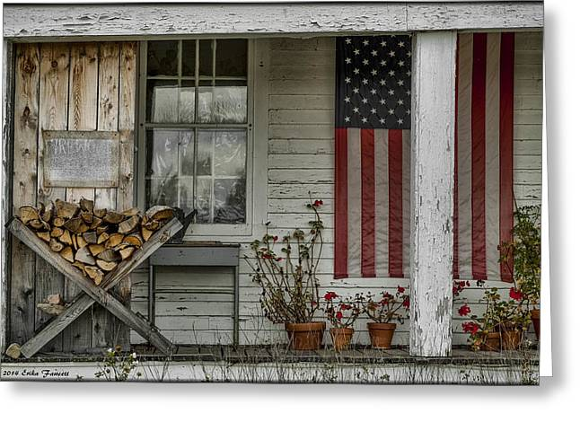 Old Apple Orchard Porch Greeting Card
