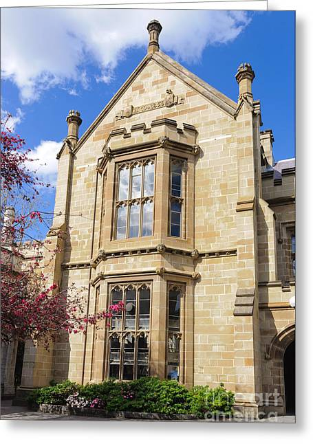 Old Arts Building - Melbourne University - Australia - Academic Tudor - Jacobethan Style Building Greeting Card by David Hill