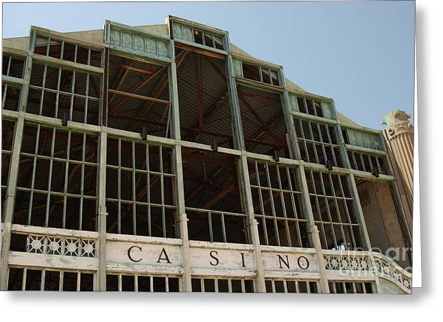 Old Asbury Park Casino Shell Greeting Card by Anna Lisa Yoder