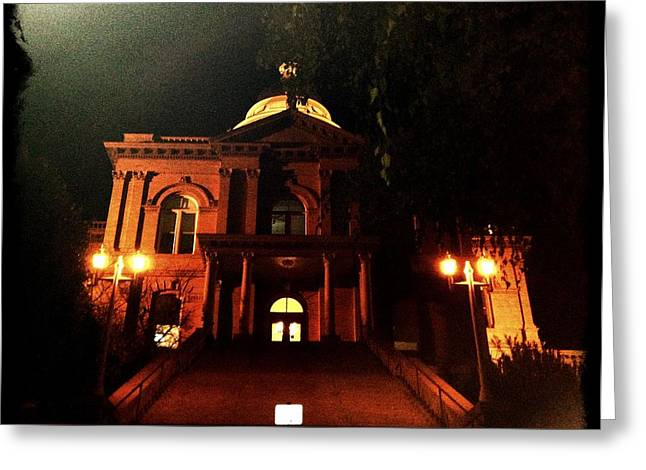 Old Auburn Courthouse Greeting Card by Sherry Flaker