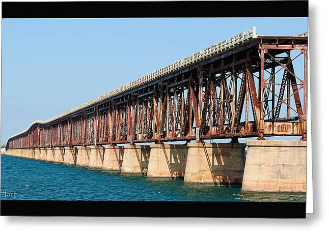 Old Bahia Honda Bridge 2 Greeting Card