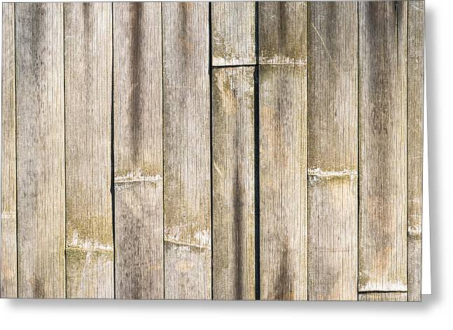 Old Bamboo Fence Greeting Card by Alexander Senin